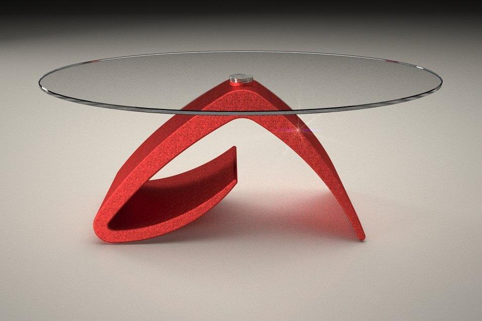 Tavolino Da Soggiorno Rosso.Tavolino Da Salotto Tritone